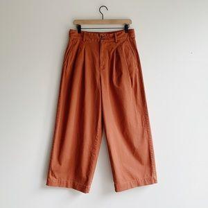 Madewell pleated wide leg pants